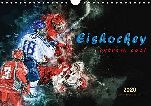 Eishockey - extrem cool (Wandkalender 2020 DIN A4 quer): Teamsport der Extra-Klasse - Kraft, Ausdauer, Härte und Schnelligkeit (Monatskalender, 14 Seiten ) (CALVENDO Sport)