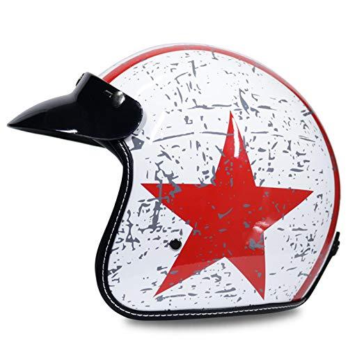 Casco Vintage scotter Moto Casco capacete Moto Retro Casco de Motocicleta c5