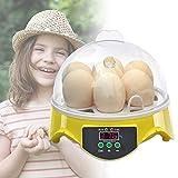 GJCrafts Incubatrice Automatica per 7 Uova Controllo Automatico di Temperatura Egg Hatcher con Display LCD e Controllo della Temperatura per cova Artificiale incubazione Uova Per Polli Anatre Uova