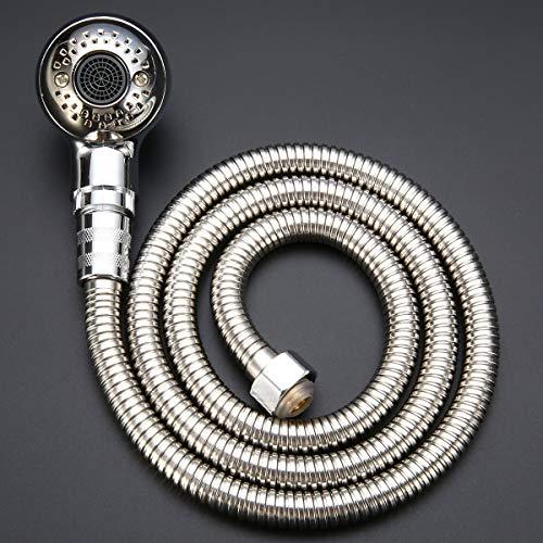 Douchekop zilveren sproeier set douchekop + 120cm slang douchespuit Salon wastafel slang voor badkamer hardware nieuw