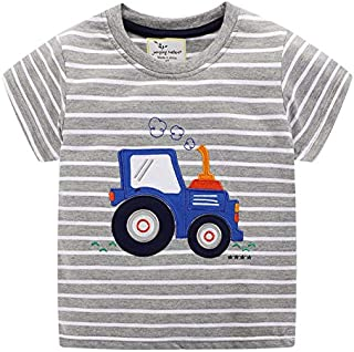 Little Boy Summer Short Sleeve Tee Shirt Cotton Casual Outfit Set 3-5Y