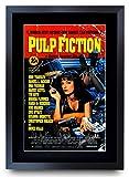HWC Trading Pulp Fiction Bruce Willis Die Cast Samuel L Jackson Presents Poster Imagen Impresa Autógrafos para La Película Recordaba De Aficionados - A3 Enmarcada