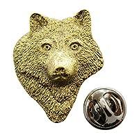ウルフヘッドピン~ 24Kゴールド~ラペルピン~サラのTreats & Treasures