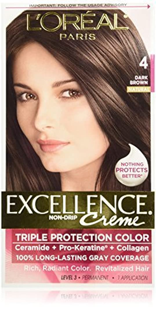 中級洞察力賄賂Excellence Dark Brown by L'Oreal Paris Hair Color [並行輸入品]
