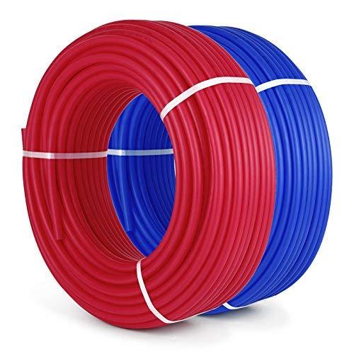OldFe Ossigeno Barriera PEX Tubi 2 Rotoli 1/2 Pollici x 300 Piedi Tubo EVOH PEX-B per Riscaldamento a Pavimento ad Uso Residenziale e Uso Commerciale
