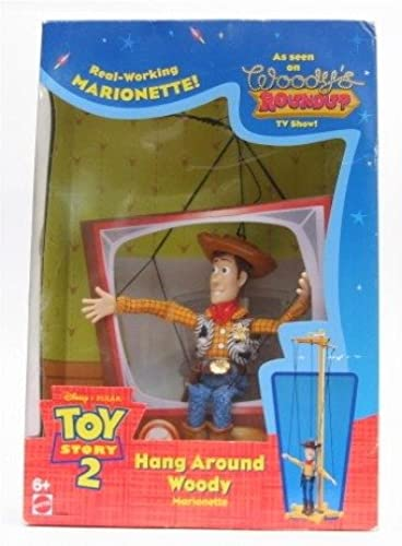 Mattel Toy Story 1999 - 23896 Toy Story 2 - HANG AROUND WOODY - Real-Working MARIONETTE - OVP