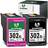 Economink 302XL Cartuchos de Tinta Reciclados para HP 302 HP 302 XL para HP DeskJet 2130 3636 3634 3638 OfficeJet 3830 3833 3831 5220 Envy 4525 4527 4520 4524 4528 (1 Negro, 1 Tri-Color)
