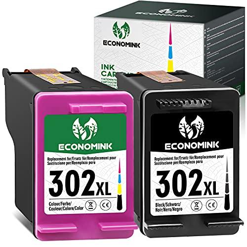 EconomInk Cartouche d'encre remanufacturée de Remplacement pour HP 302 XL 302XL Noir et Tricolore à Utiliser avec Officejet 3831 5232 Deskjet 3630 3636 Envy 4524 3639 4527 4650 4658 5230 2130 4520