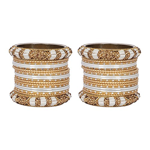 MUCH-MORE Exclusive Ethnic Collection Made Fashion Latkan Bangles for Women /& Girls Military, 2.4
