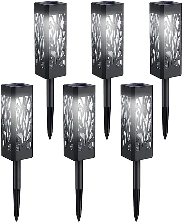 LED Ground-Inserting Tree-Shaped Hollow Landscape Solar Lawn New Free Cheap bargain Shipping Lig