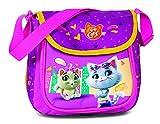 Fabrizio Kids 44 Cats - Bolso bandolera (20 cm, 20 cm), color fucsia