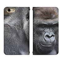 iPhone SE 第2世代 ベルト無し 手帳型 スマホケース スマホカバー bn227(G) 大猩々 ごりら ゴリラ コング アイフォンSE 新 iphonese2 se2 スマートフォン スマートホン 携帯 ケース アイホンSE 第二世代 手帳 ダイアリー フリップ スマフォ カバー