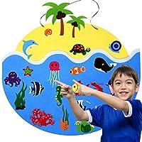 Under The Sea フェルトボードストーリーセット 幼児用 アニマルフェルト プレカットフィギュア 幼稚園 壁アクティビティ おもちゃ ギフト