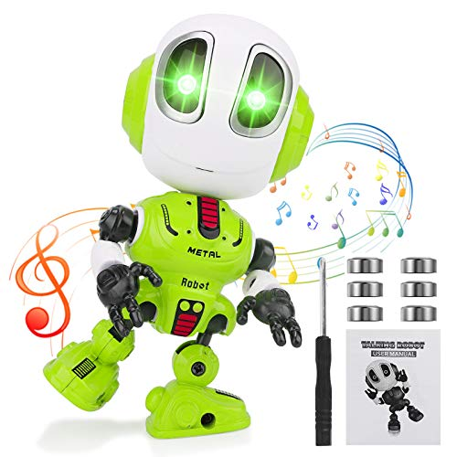 Herefun Giocattolo Robot, Robots per Bambini, Robot Interattivi Multifunzionali, Robot Parlante, Robot Intelligente Interattivo, Festa di Compleanno per Bambini, Halloween, Regali di Natale (Verde A)