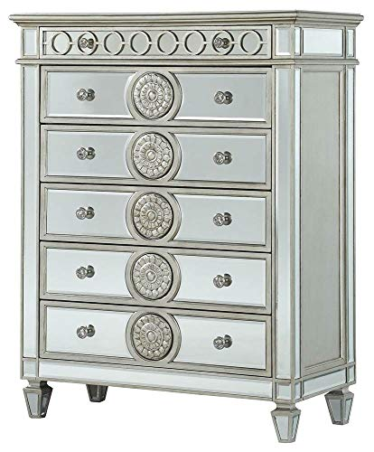 ACME Varian Chest - - Mirrored