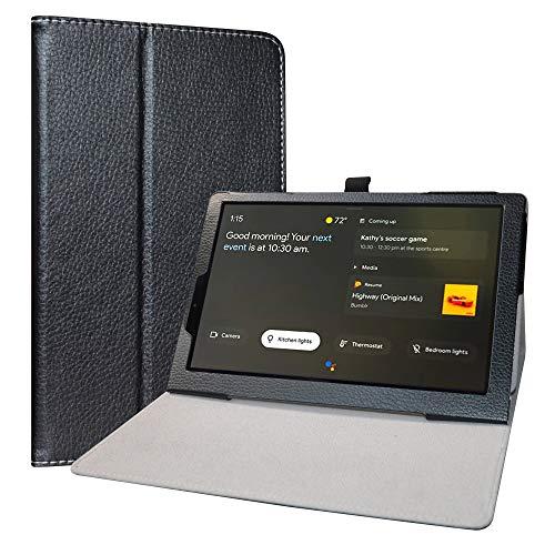 Labanema Funda para Lenovo Yoga Smart Tab, Slim Fit Carcasa de Cuero Sintético con Función de Soporte Folio Case Cover para 10.1' Lenovo Yoga Smart Tab YT-X705F Tablet - Negro