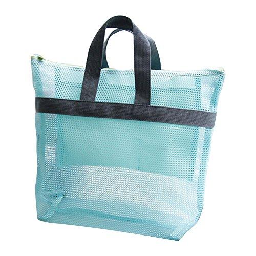 Demarkt Mesh Strand Tasche Handtasche Wasserdichter Beachbag Badetasche Schwimmen Wash Reisetragetaschen Umhängetasche Blau