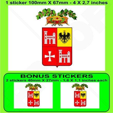 ASCOLI PICENO Province Drapeau Province Italienne ITALIE, 100mm Vinyle Autocollant, x1+2 BONUS Stickers