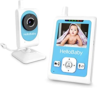 Hello Baby Monitor with Motion Sensor Camera, Support Video Recording, Night Vision, Two-Way Talk Audio, Temperature Monitoring,Best Gift for New Parents