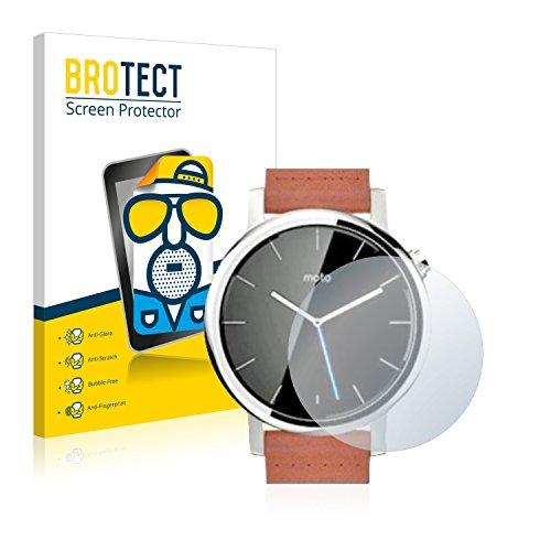 BROTECT 2X Entspiegelungs-Schutzfolie kompatibel mit Motorola Moto 360 42 mm (2. Generation) Bildschirmschutz-Folie Matt, Anti-Reflex, Anti-Fingerprint