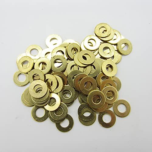 Arandela plana de latón M2 M2.5 M3 M4 M5 M6 M8 M10 M12 M14 M16 Arandela de cobre similar a -M8 (50 piezas)