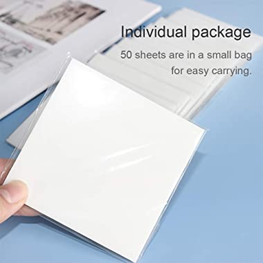 """Multibey Transparent Sticky Notes Pad, 3x3"""" Waterproof Self-Adhesive Clear Memo Message Reminder, 10 Packs 500 Sheets (3"""