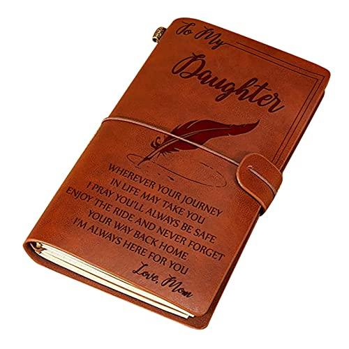 Kaxofang Cuaderno de Viaje de Cuero con Diario Que Mamá Le da una un Cuaderno Regalo de CumpleaaOs y GraduacióN de la Hija A