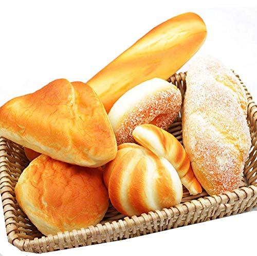 Hynbase 7 Pieces Pack Fake Cake Simulation Breads Set