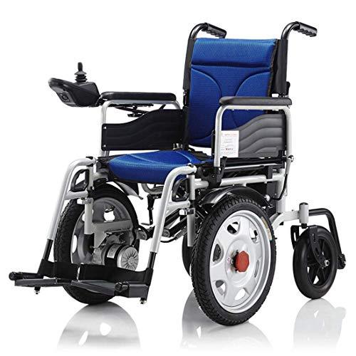 WERFFT Elektrische rolstoel, lichtklap, voorkant drive, intelligent, multifunctioneel, automatische ouderen, vierwielige scooter, blauw, 25 km