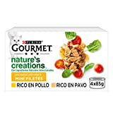 Nestlé Purina Gourmet Nature's Creation Comida húmeda para Gatos Pollo y Pavo 12 x (4 x 85 g) - Pack de 4