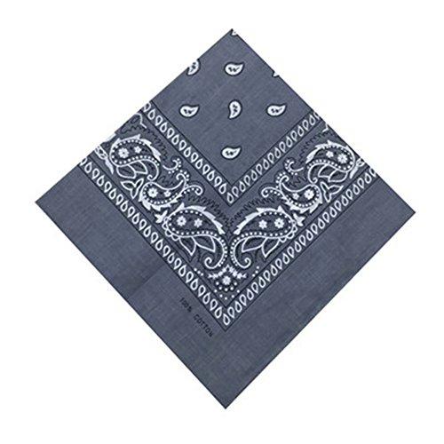 Qinlee Kleiner Quadratische Halstuch Multifunktional Taschentücher DIY Kopftuch Frühling-Sommer Taschentuch Bandana Haar Gestylten für Unisex (Grau)