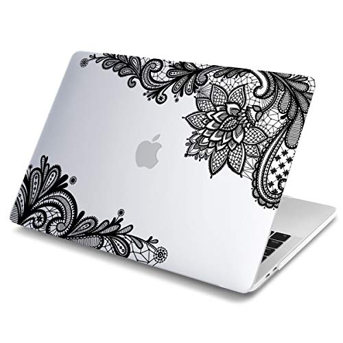 Batianda MacBook Pro 13-inch with Retina Lace Design Matte Hard Sleeve Cover Case for MacBook Pro 13.3' with Retina Display (Model:A1425 & A1502,Version 2015/2014/2013/end 2012) - Clear