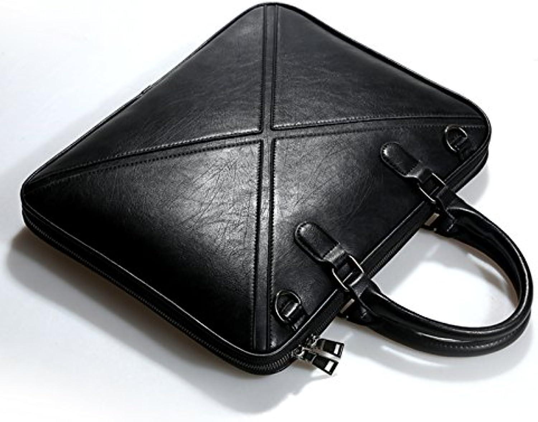 JUSTYOU Echtes Leder 13,3-Zoll-Computer Tasche Leder Schulter 14 Zoll Notebook Tasche Mnner und Frauen Dokumente dünnen Abschnitt