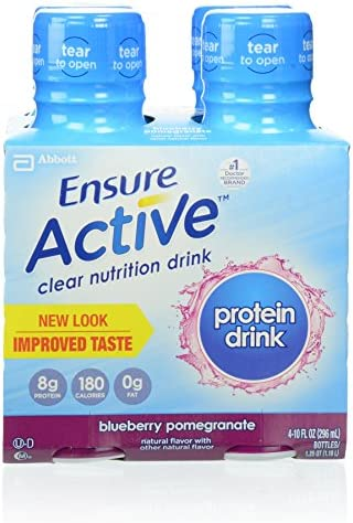 Ensure Active Clear Nutrition Beverages Blueberry Pomegranate 4 Count product image