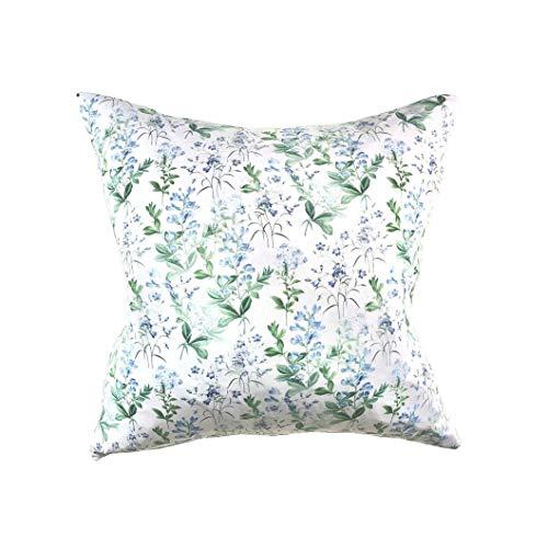 Federa per cuscino botanico con motivo floreale, cuscino decorativo con motivo floreale e campanella, stile shabby chic