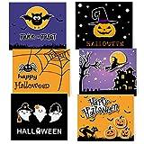 TUPARKA Confezione da 30 biglietti di auguri di Halloween con buste e adesivi di Halloween, 6 disegni di Halloween