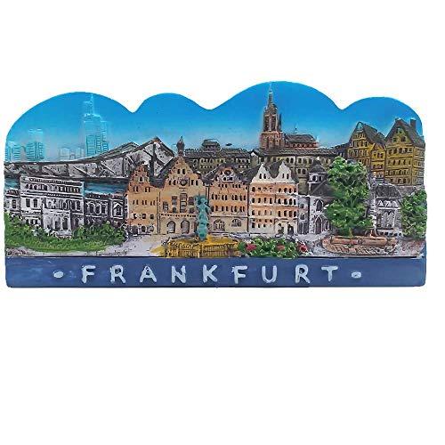 Imán de nevera 3D de Frankfurt Alemania recuerdo turístico regalo & colección decoración hogar & cocina etiqueta magnética de Frankfurt Alemania colección de imanes