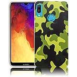thematys Passend für Huawei Y6 2019 Camouflage Handy-Hülle Silikon - staubdicht stoßfest und leicht - Smartphone-Case