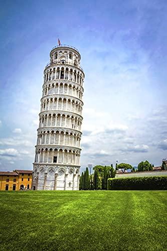 Fondo Fotografia 5x7FT(1.5mx2.1m) Torre Inclinada de Pisa para Portrait Fotógrafos Estudio Foto Fondo Prop Video Televisión Photocall