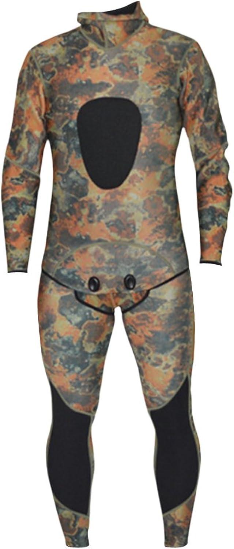 MonkeyJack S to XXL Mens Camo Full Body 2Piece Set Comfortable Stretch 3mm Neoprene Diving Scuba Surfing Wetsuit