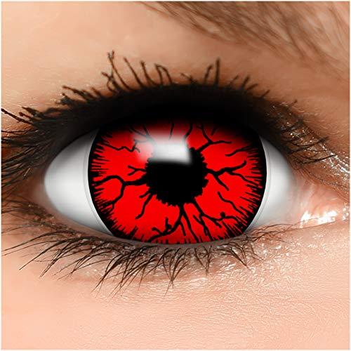 Farbige Maxi Sclera Kontaktlinsen Lenses Devil inkl. Behälter - Top Linsenfinder Markenqualität, 1Paar (2 Stück)