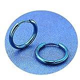 Pendientes Fiesta Verde Agua Pendiente de Figura Circular Blisfille Joyería &Azul