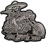 Bandito Comic Bandido Skeleton Rider Free Biker MC Iron on Patch Badge BACKPATCH