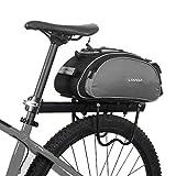 Lixada Bolsa Trasera para Bicicleta Multifuncional Bolsa de Asiento Trasero...