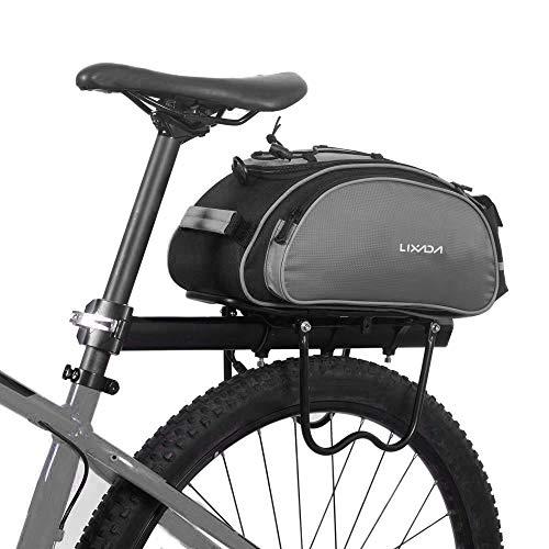 Lixada Bolsa Trasera para Bicicleta Multifuncional Bolsa de Asiento Trasero Bolsa de...