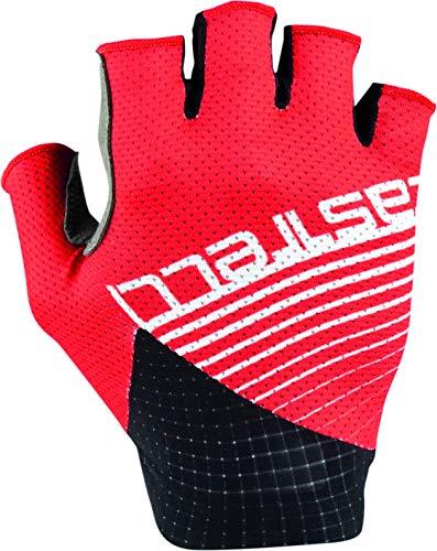 Castelli 4520035-023 - Guantes de Ciclismo para Hombre, Color Rojo, Talla L