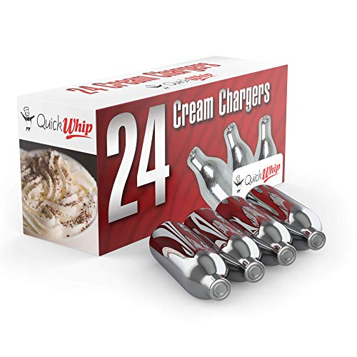 QuickWhip Cream Chargers  600 (24 packs x 25 boxes), 8.0 grams Pure Nitrous Oxide, N2O Cartridges for Whipped Cream Dispensers, Compatible with Standard Cream Dispensers