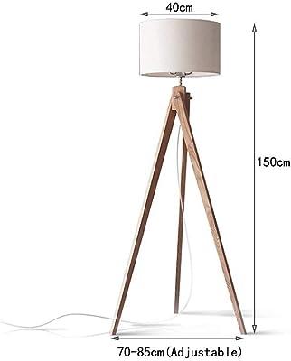 tomons Stehlampe Stativ aus Holz für das Wohnzimmer