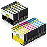 Gohepi 071XL Compatible pour Cartouches Epson T0711 T0712 T0713 T0714 avec Epson Stylus SX218 SX200 SX415 SX400 SX215 BX300F BX310FN SX210 SX215 SX218 DX4000 DX4050 DX4400 SX100 SX105 SX110 SX115