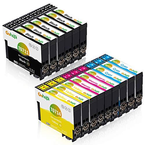 Gohepi Ersatz für Epson T0715 Druckerpatronen T0711 T0712 T0713 T0714 Patronen Kompatibel für Epson Stylus S20 Stylus Office BX300F BX610FW SX100 D92 SX400 SX200 DX4400 DX8400 SX210